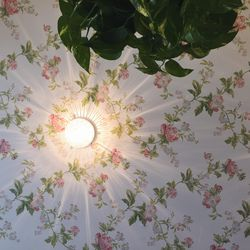 Don't think we didn't notice this gorge ceiling wallpaper, Alfred.