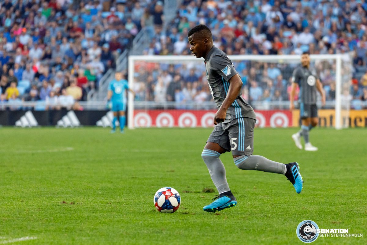 August 14, 2019 - Saint Paul, Minnesota, United States - Minnesota United forward Darwin Quintero (25) dribbles the ball during the match against the Colorado Rapids at Allianz Field.