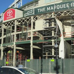 Sat 12/19: Closer view of main gate area -