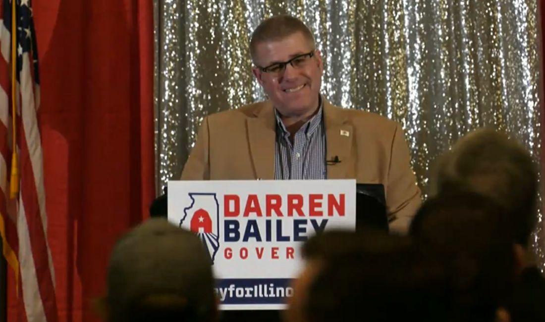 State Sen. Darren Bailey, R-Xenia, kicks off his bid for governor in downstate Effingham in February.