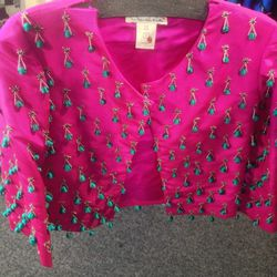Embellished jacket, $660
