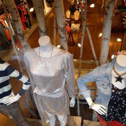 """Stars and stripes shirts via Tibi and Gryphon, respectively, at Georgetown boutique <a href=""""http://www.shopwinkdc.com/"""">Wink.</a>"""