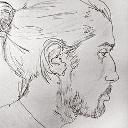 "<a href=""http://portrait-ology.tumblr.com/post/110129696086/man-bun-appreciation-day""> portrait-ology"