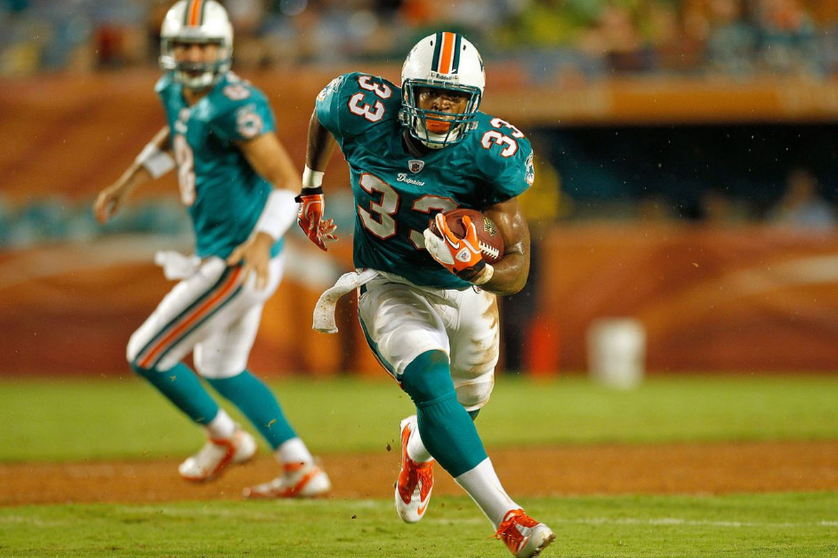 Miami Dolphins running back Daniel Thomas looks to get onto the field for the first time in the 2011 regular season, starting with returning to practice.