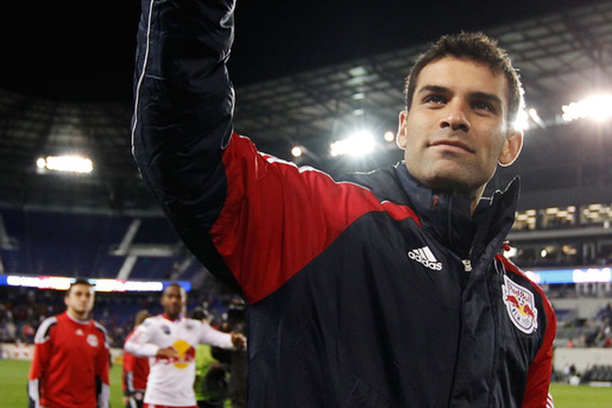 HARRISON NJ - OCTOBER 21:  Could I interest you... (Photo by Mike Stobe/Getty Images for New York Red Bulls)