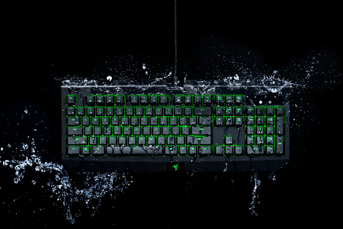 Razer redesigns its BlackWidow keyboard with IP54 water protection