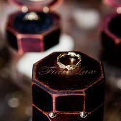 Masami Kelly 18k yellow gold lace diamond eternity band, $1,400