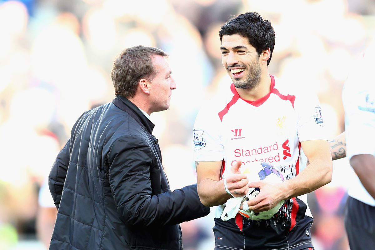 """""""Now, Luis, if you're in a position where you've scored two goals, think WWGD: What Would the Gaffer Do? There's a good lad."""""""