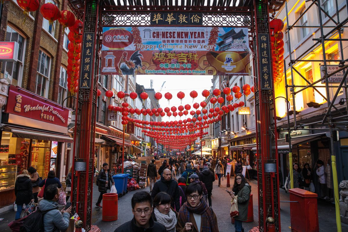 London's Chinatown Prepares For New Year Celebrations