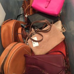 Small leather bags, $75