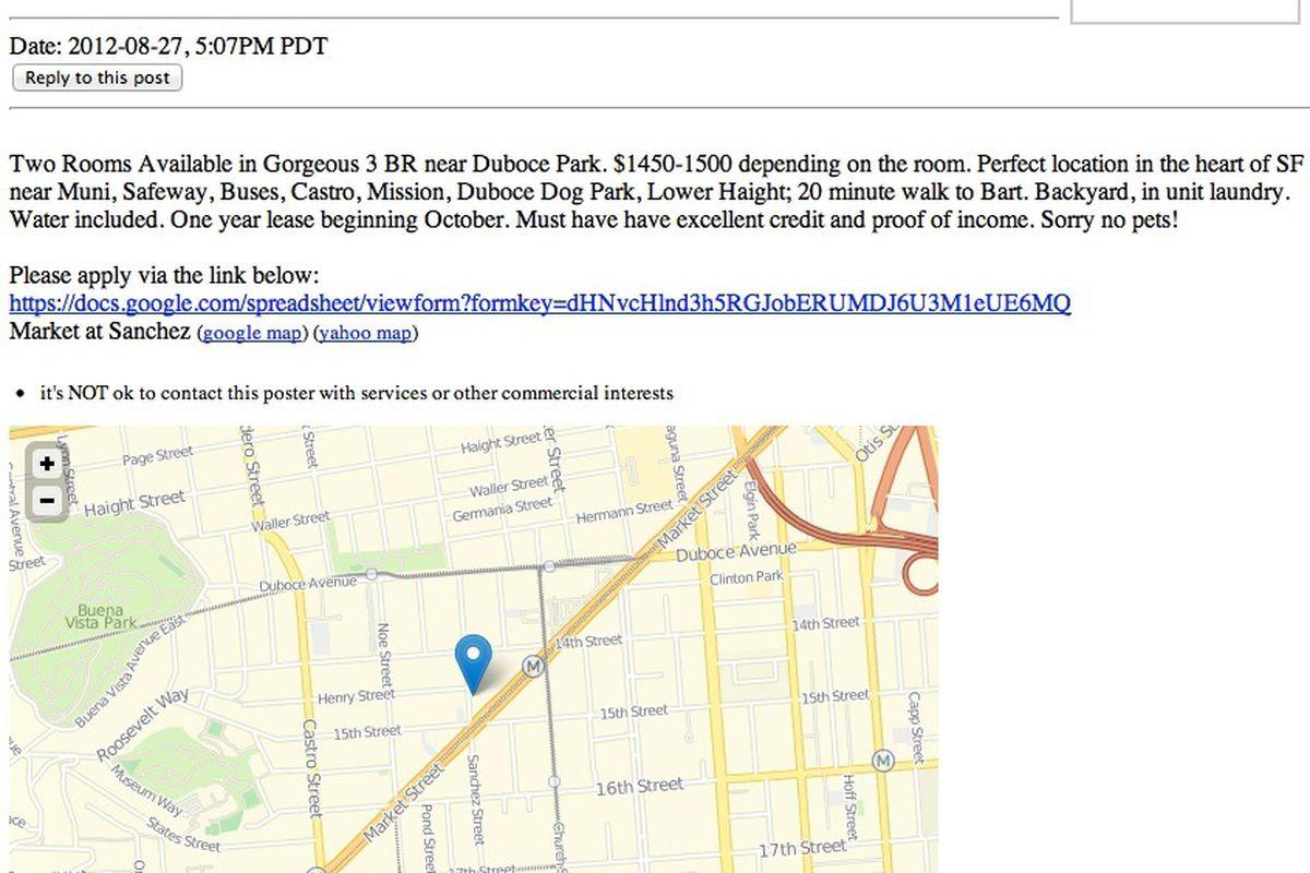 Craigslist begins testing listings with embedded ...