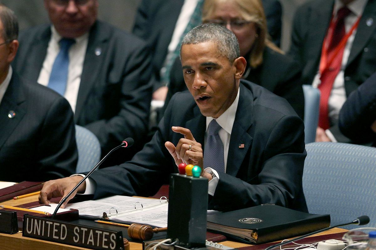 President Obama speaks to the UN Security Council in 2014 (Spencer Platt/Getty)
