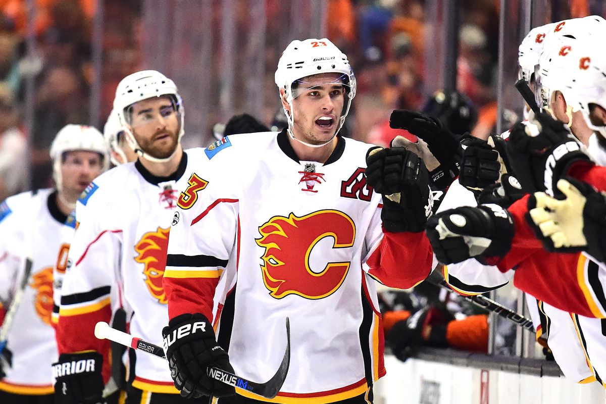 premium selection 4a521 3b1dc Early Projection of the 2017-18 Calgary Flames Lines ...