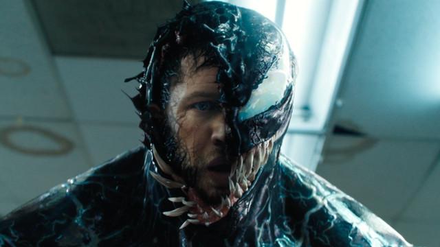Tom Hardy in <em>Venom</em>.