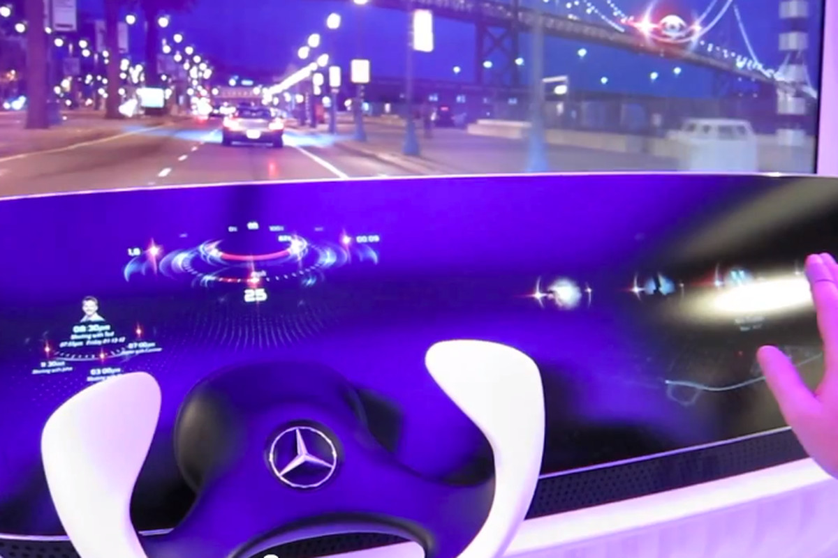 Hand Controls For Cars >> Mercedes-Benz shows off concept car interior with HUD and gesture controls - The Verge
