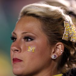 MFW I realize that the ND band doesn't need flag girls to dominate Michigan