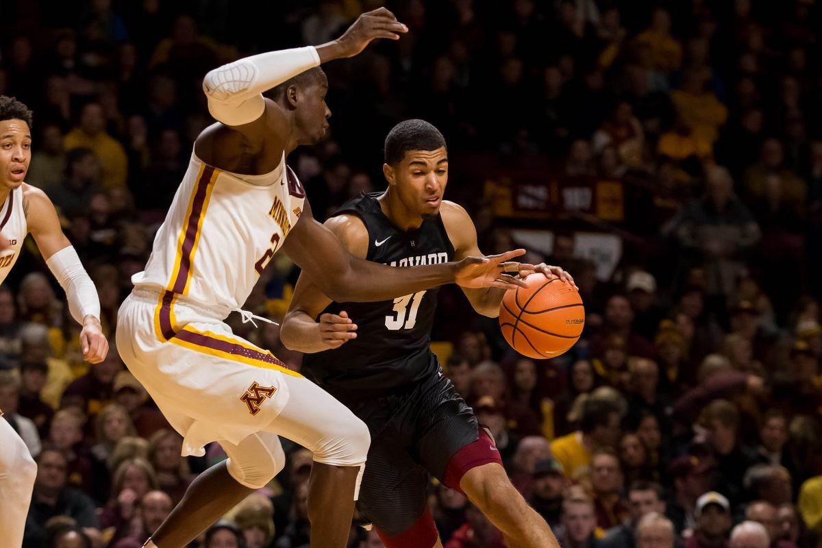NCAA Basketball: Harvard at Minnesota