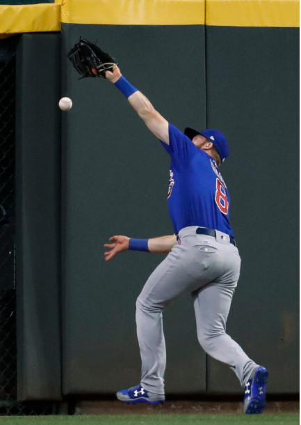 """<em>Happ said he came within """"centimeters"""" of what would have been a game-saving catch.</em>"""