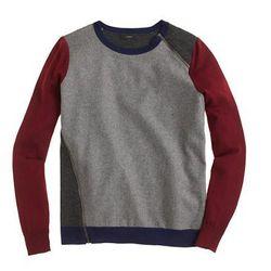 "J. Crew merino wool asymmetrical sweater, <a href=""https://www.jcrew.com/womens_category/sweaters/Pullover/PRDOVR~B3280/B3280.jsp?srcCode=AFFI00001&siteId=*2nGiS3mv0Y-wmSkdHhnegDqrvjAg%2FhtEg"">$110</a>"