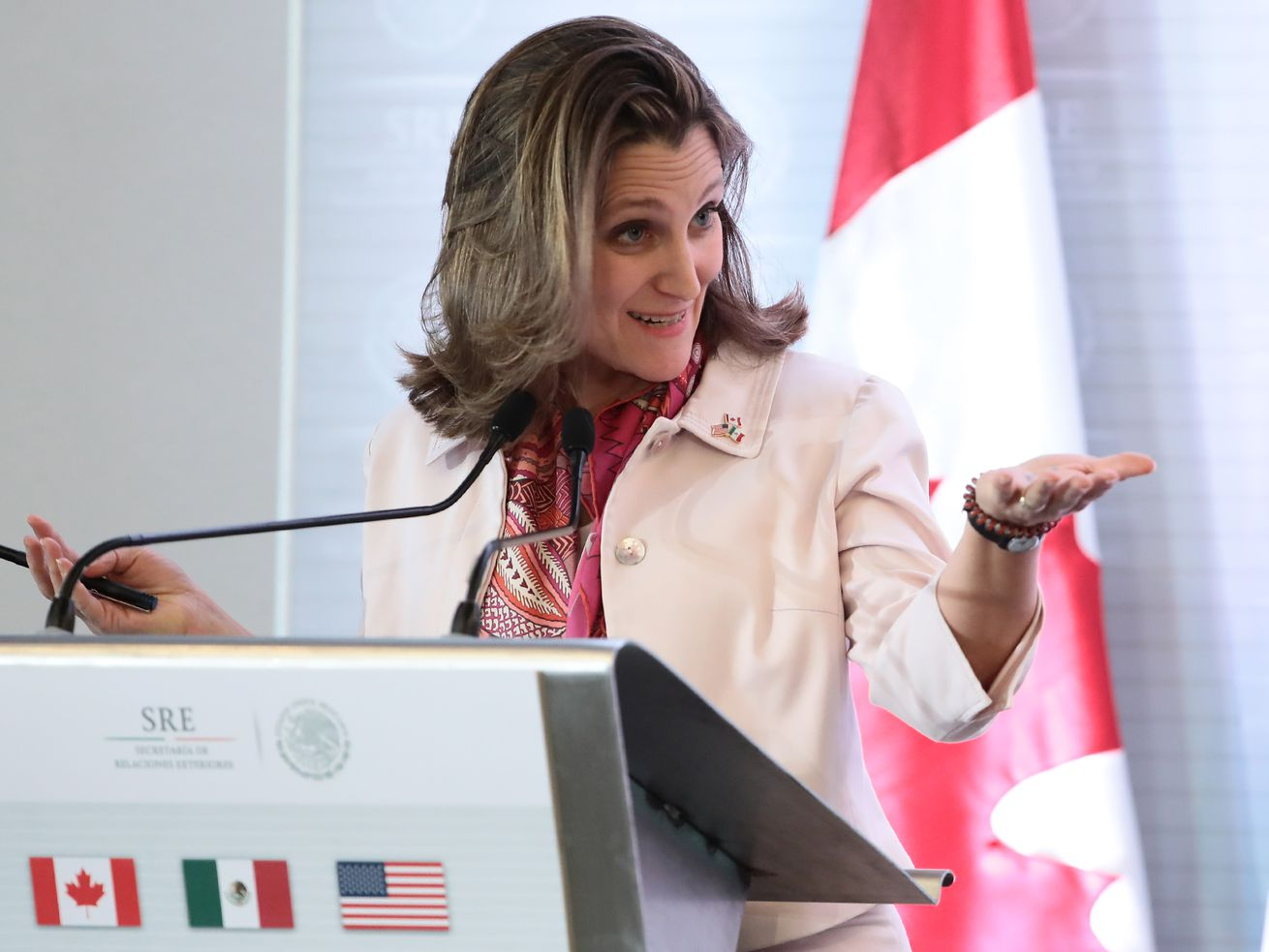 Chrystia Freeland, the foreign minister of Canada, in February 2018.
