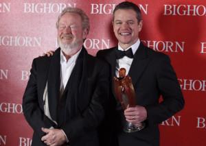 "Matt Damon (right) with his ""The Martian"" director Ridley Scott.   Chris Pizzello/Invision/AP Photo"