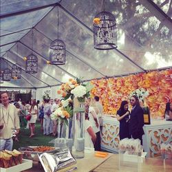 The VIP tent's enchanting décor