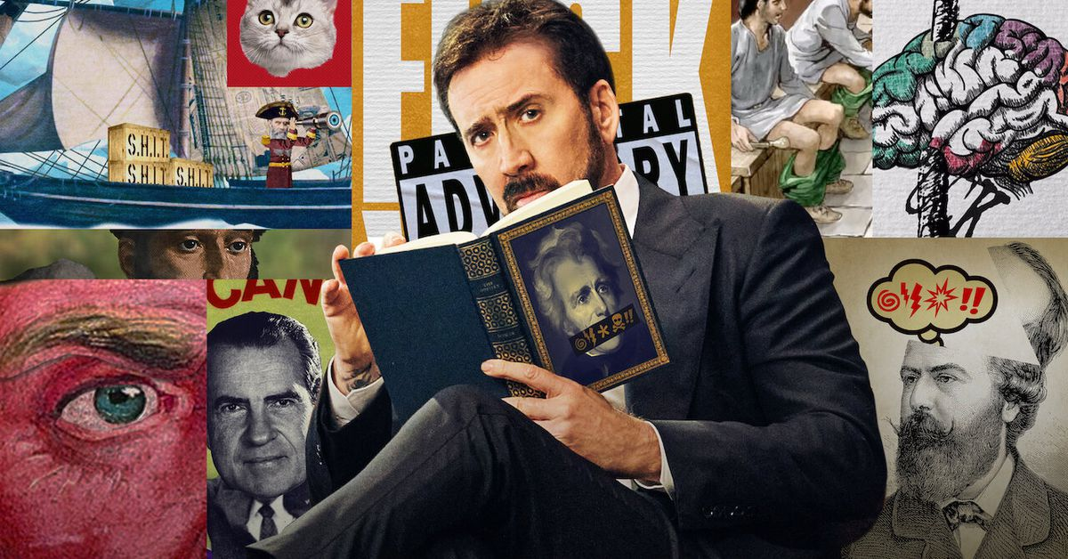 Watch Nicolas Cage shout expletives in History of Swear Words trailer thumbnail