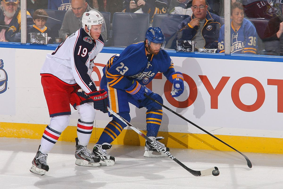 The subject of question #11, Ville Leino #23 of the Buffalo Sabres. (Photo by Rick Stewart/Getty Images)