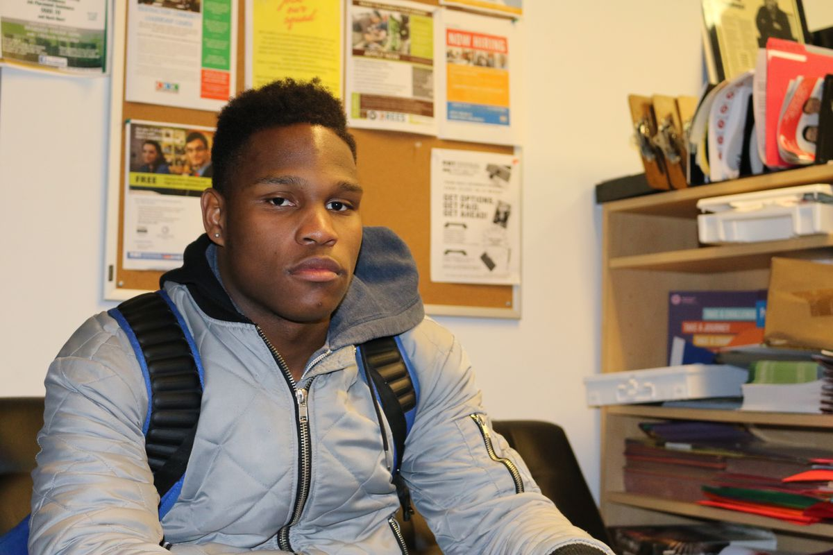 """Hernan Davis, a member of YO S.O.S. said students """"need to know people listen"""" if schools want to help prevent gun violence."""