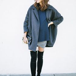 """Samantha of <a href=""""http://www.couldihavethat.com""""target=""""_blank"""">Could I Have That?</a> is wearing a Hatch <a href=""""http://hatchcollection.com/shop/product/the-topper-coat-fall-14/""""target=""""_blank"""">coat</a> and <a href=""""http://hatchcollection.com/shop/"""