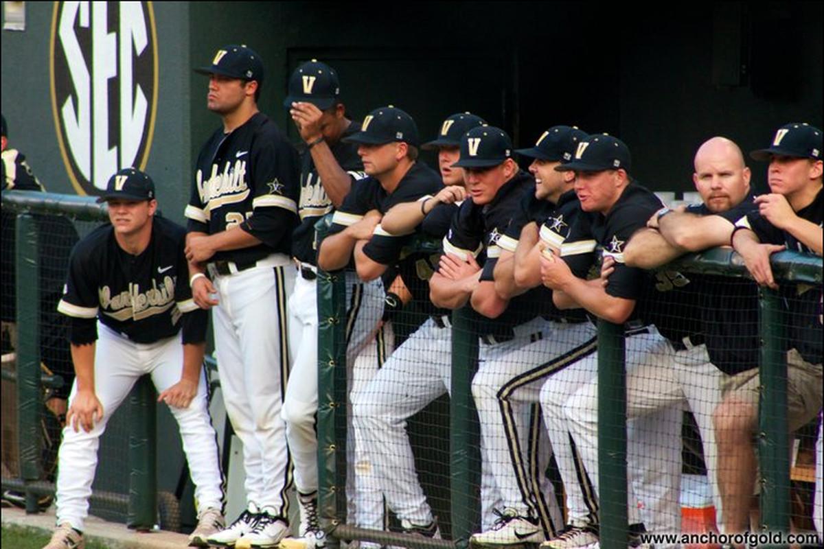 The Vanderbilt baseball team, seen here in a rare moment of not talking about Taylor Swift's ass.