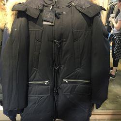 Men's winter coat, $445 (was $890)