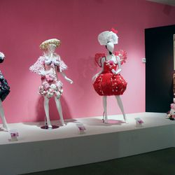 Wild Hello Kitty dresses get their own section. Be sure to check out Lady Gaga's plush-toy covered number on the far right.