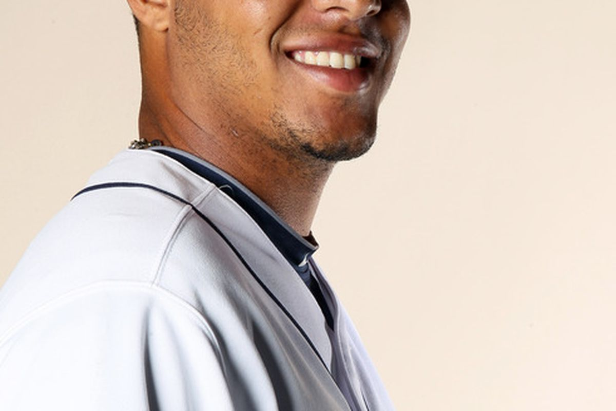 FT. MYERS FL - FEBRUARY 22:  Cesar Cabral #59 of the Tampa Bay Rays poses for a portrait during the Tampa Bay Rays Photo Day on February 22 2011 at the Charlotte Sports Complex in Port Charlotte Florida.  (Photo by Elsa/Getty Images)