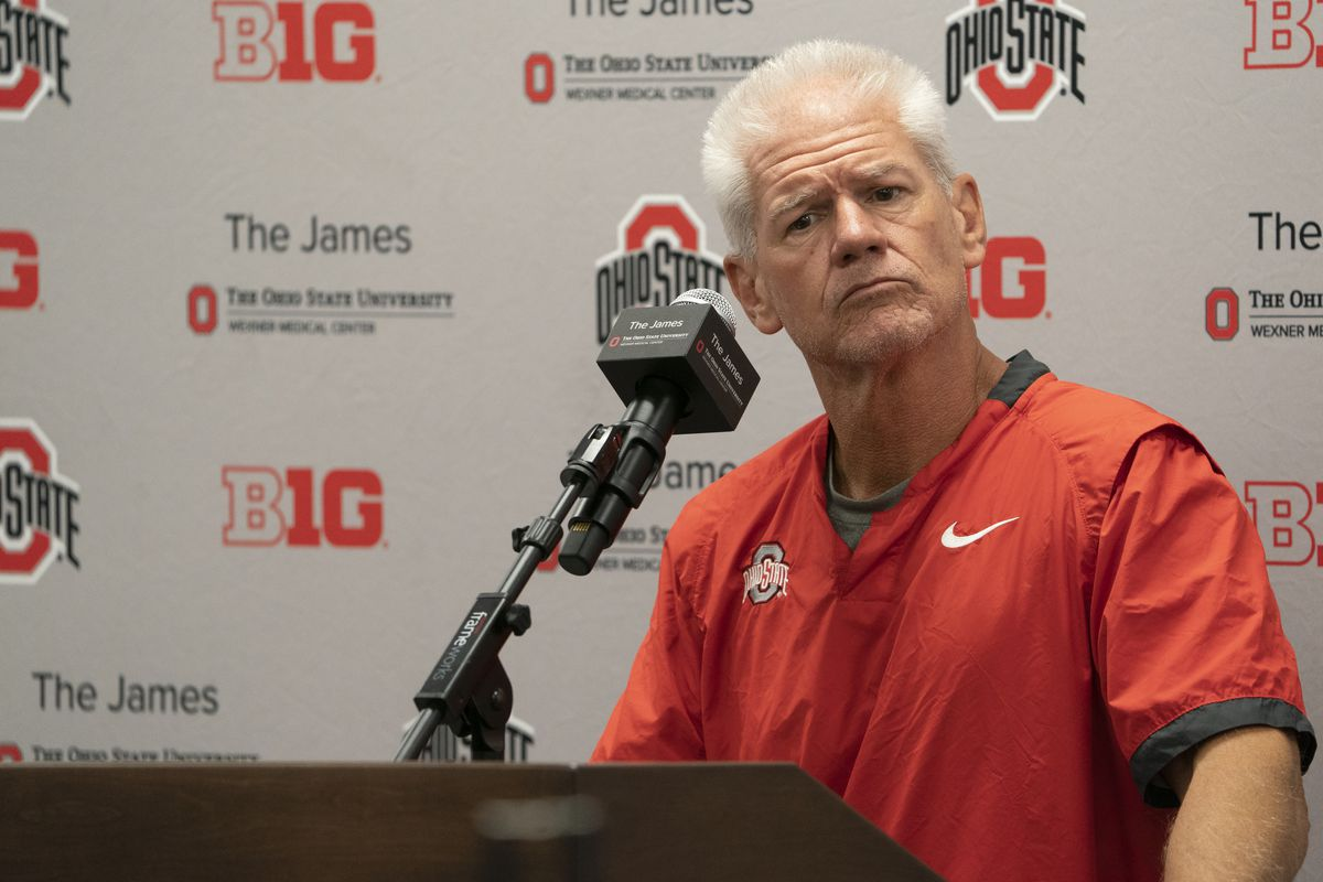 COLLEGE FOOTBALL: SEP 07 Ohio State Press Conference