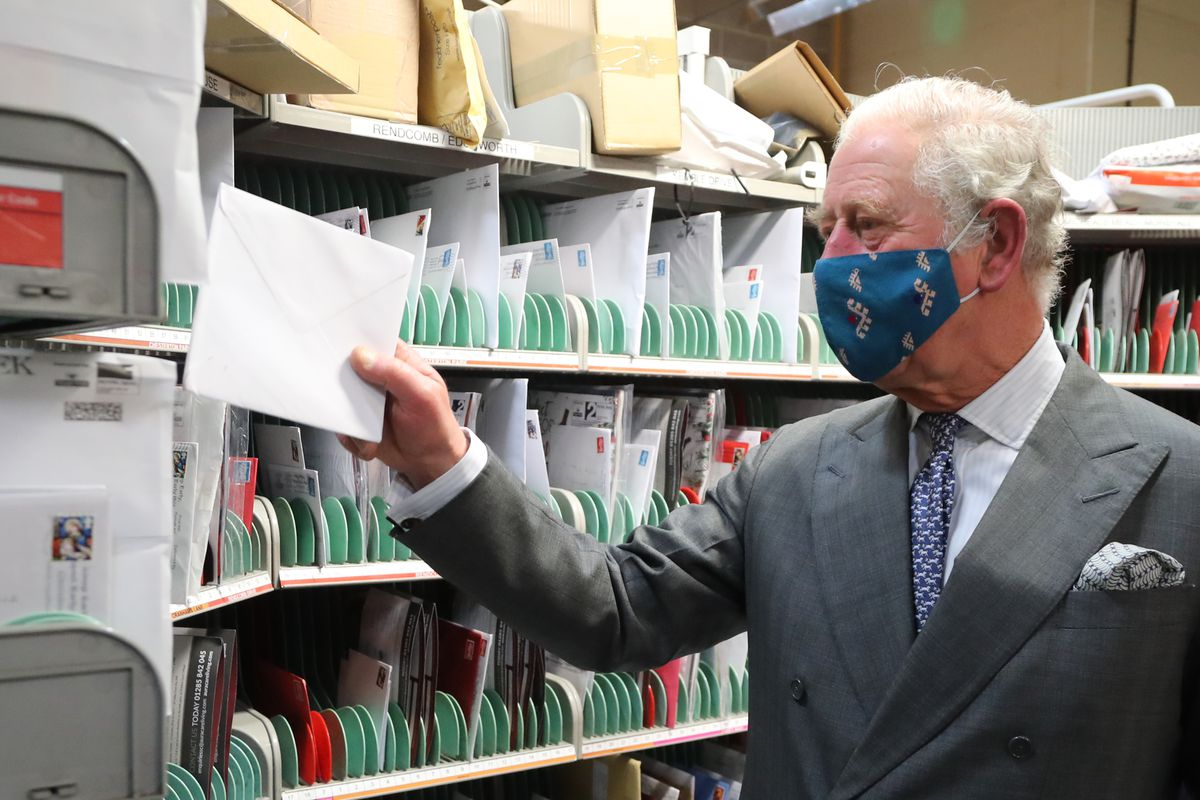 The Prince Of Wales Visits The Royal Mail's Delivery Office And Corinum Museum