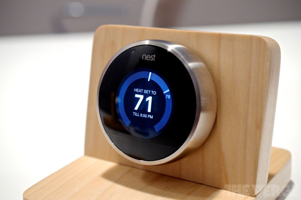 second generation nest thermostat gets slimmer more compatible the verge. Black Bedroom Furniture Sets. Home Design Ideas