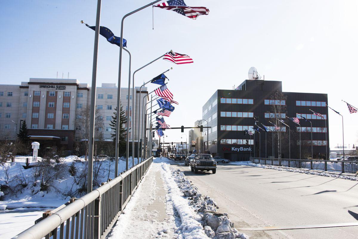 Traffic along Cushman Street in Fairbanks. Alaska's first death from the novel coronavirus was reported Friday. Sean McDermott for Vox