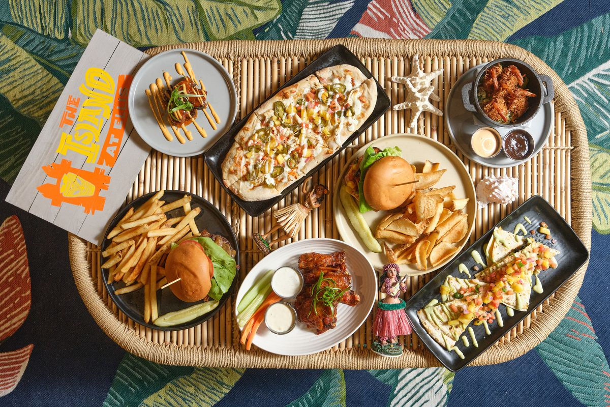 An overhead view of food