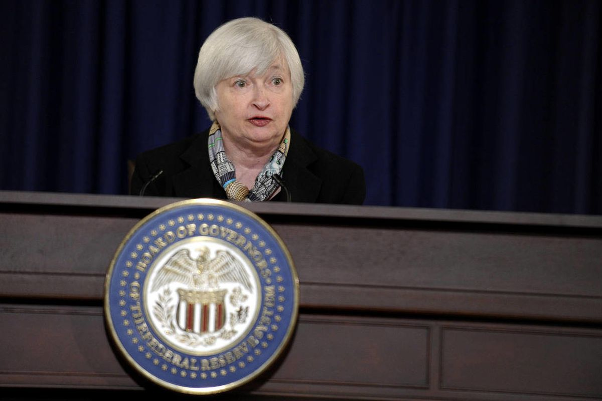 Federal Reserve Chair Janet Yellen speaks during her first news conference at the Federal Reserve in Washington, Wednesday, March 19, 2014. Over the past several days, a number of economic indicators have been released. Some of these figures suggested a w
