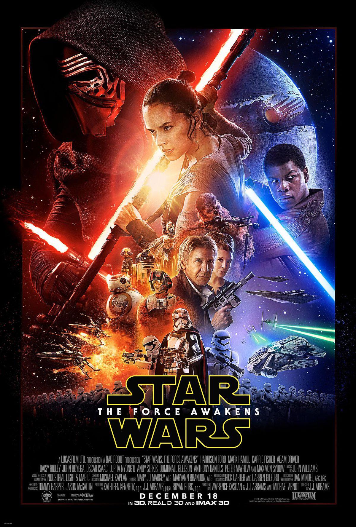star wars force awakens poster full size hq