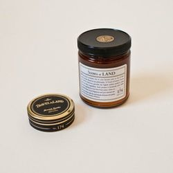 """""""We've admittedly carried somewhat girly lines of candles in the past, but even I was down with fragrances like cedar, myrrh, and patchouli,"""" says Omoi Zakka Shop owner Liz Sieber. These candles are handmade in NYC, using all-natural waxes and fragrances."""