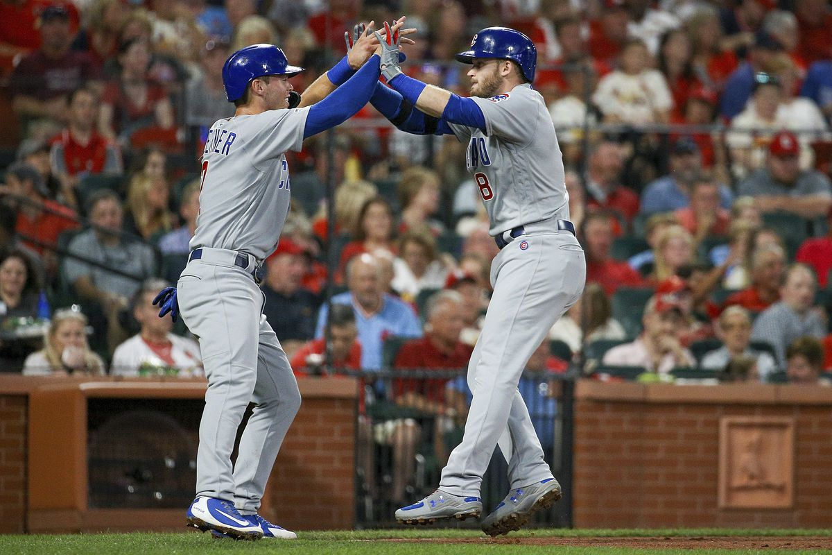 """When the coronavirus pandemic stopped spring training last month, Ian Happ (right) offered Nico Hoerner (left), Zack Short and Dakota Mekkes a place to stay if they wanted to remain in Arizona. That's how """"The Compound"""" was born."""