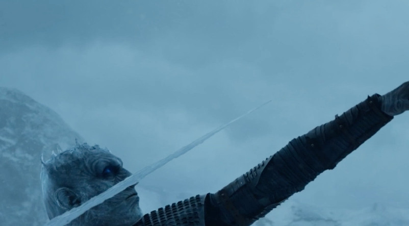 The Night King prepares to throw the spear