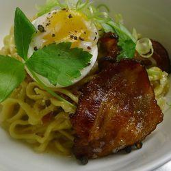 "Bacon and egg mazeman from Guchi's Midnight Ramen by <a href=""http://www.flickr.com/photos/79900441@N03"">Yodi2012</a>."