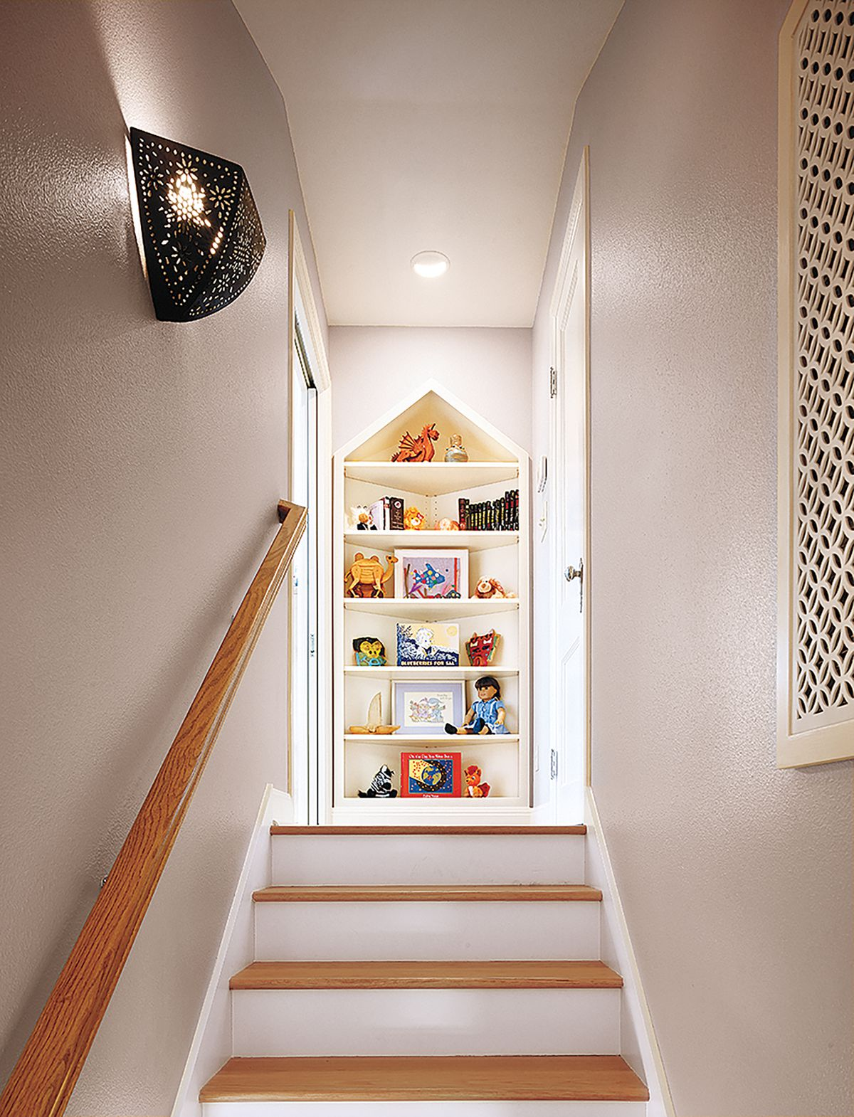 Stairwell leading to attic.