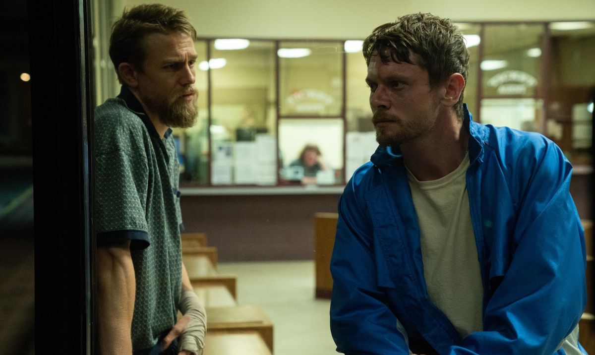 Charlie Hunnam and Jack O'Connell in Jungleland