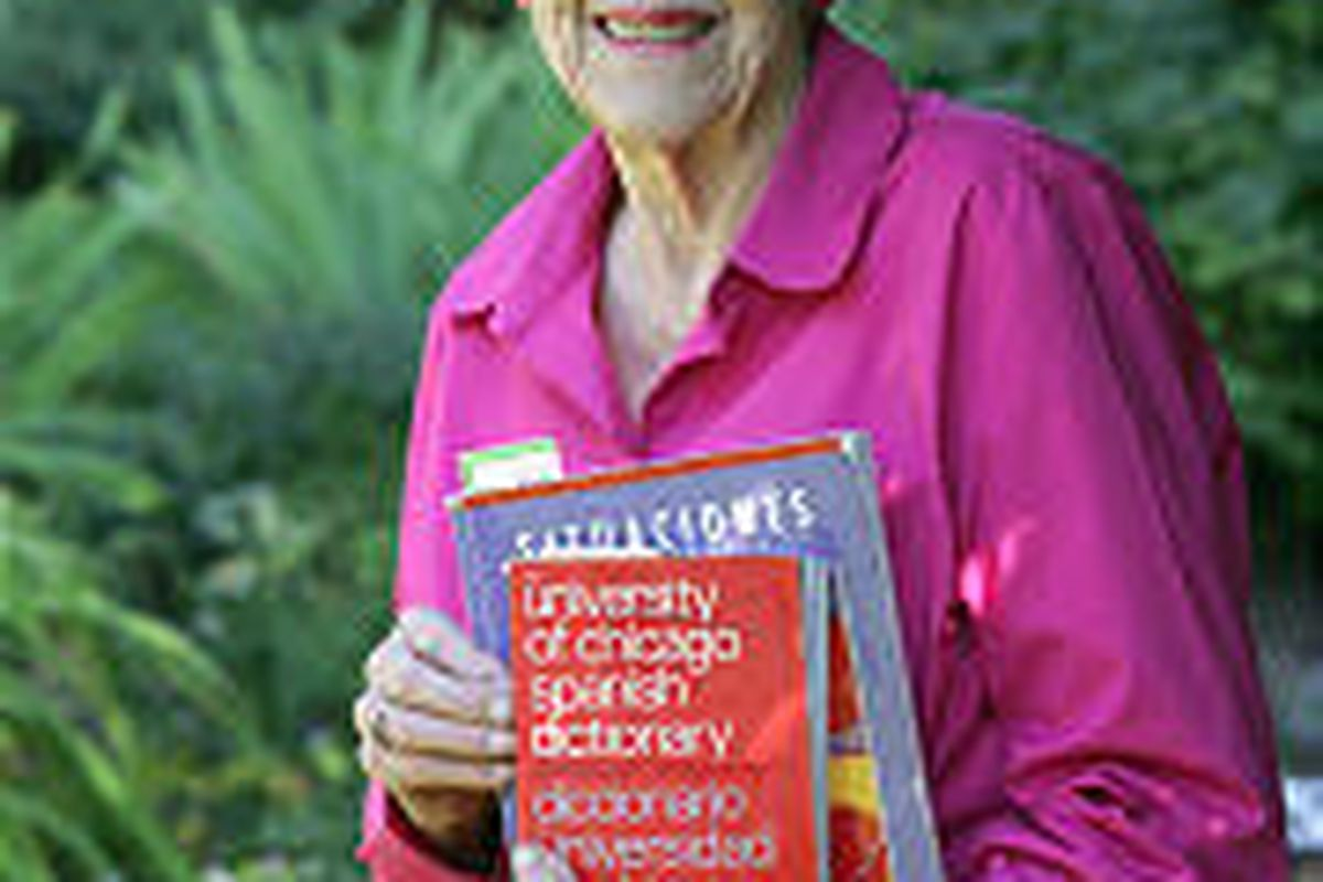 Betty West, 84, is working on the degree she started in 1941. Raising a family interrupted her studies.
