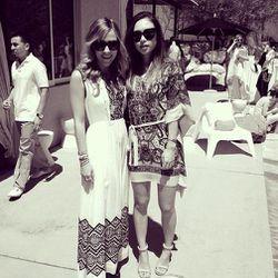 """Jacey with Rumi of <a href=""""http://www.fashiontoast.com/"""">Fashion Toast</a>. Photo via <a href=""""http://instagram.com/p/YBHtDzAPy7/"""">DamselinDior</a>/Instagram."""