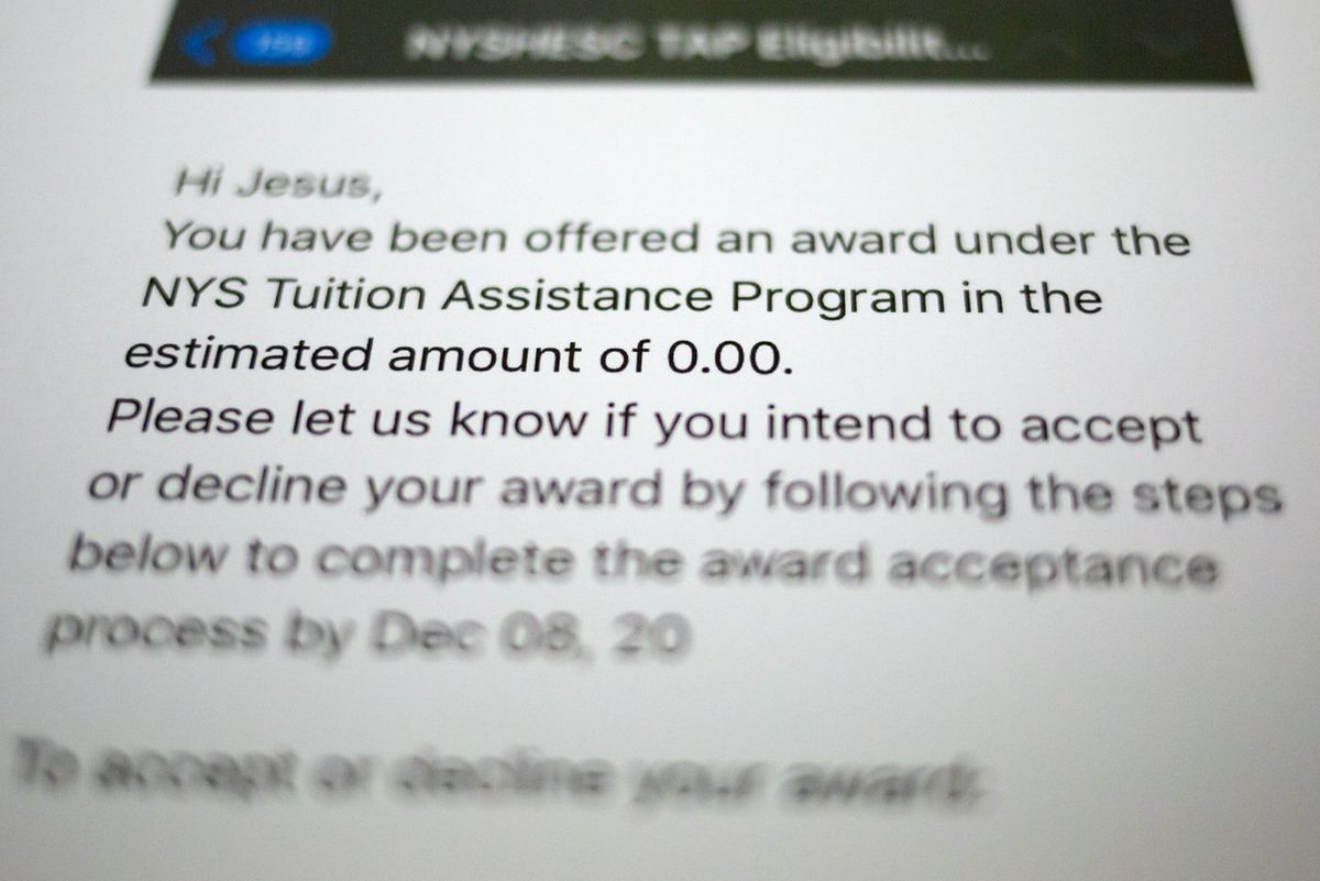 Tuition Assistance Program award email